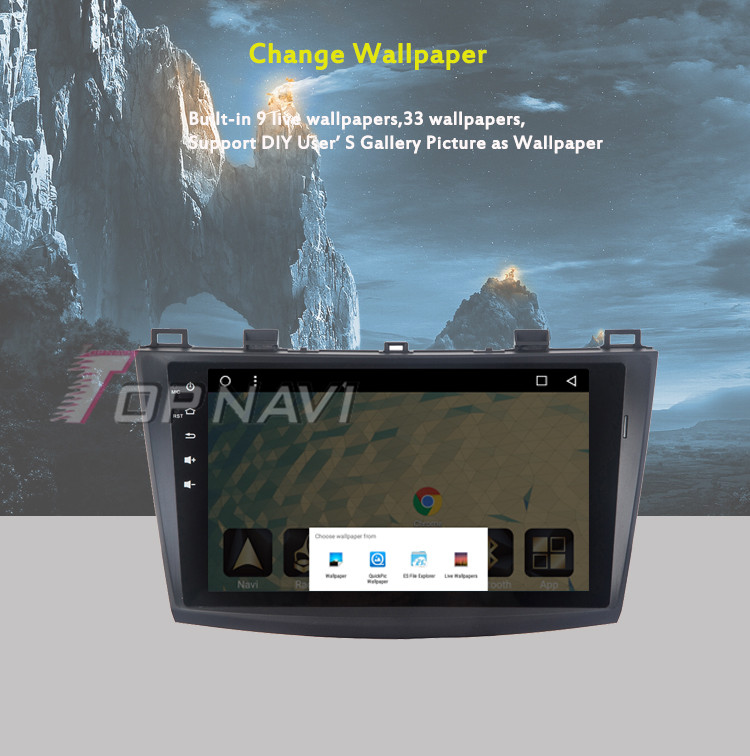 """Car Photo Viewer for Mazda 3 Star Cheng 9"""" Android 6.0 WANUSUAL Automotive Video Audio Output Stereo Support Original Speaker"""