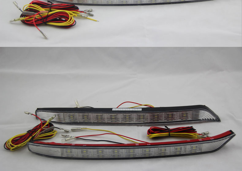 ФОТО Free Shipping 2 Pcs/set LED Daytime Running Light For KIA K3 DRL With Turning Signal Lights