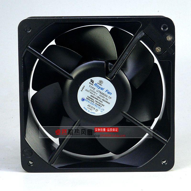 Emacro For Royal Fan UT626DG-TP Server Square Fan AC 220V 23/27.5W 160x160x65mm free shipping emacro centautr cn52b3 ac 200v 0 11 0 09a 2 pin 120x20x38mm server square cooling fan