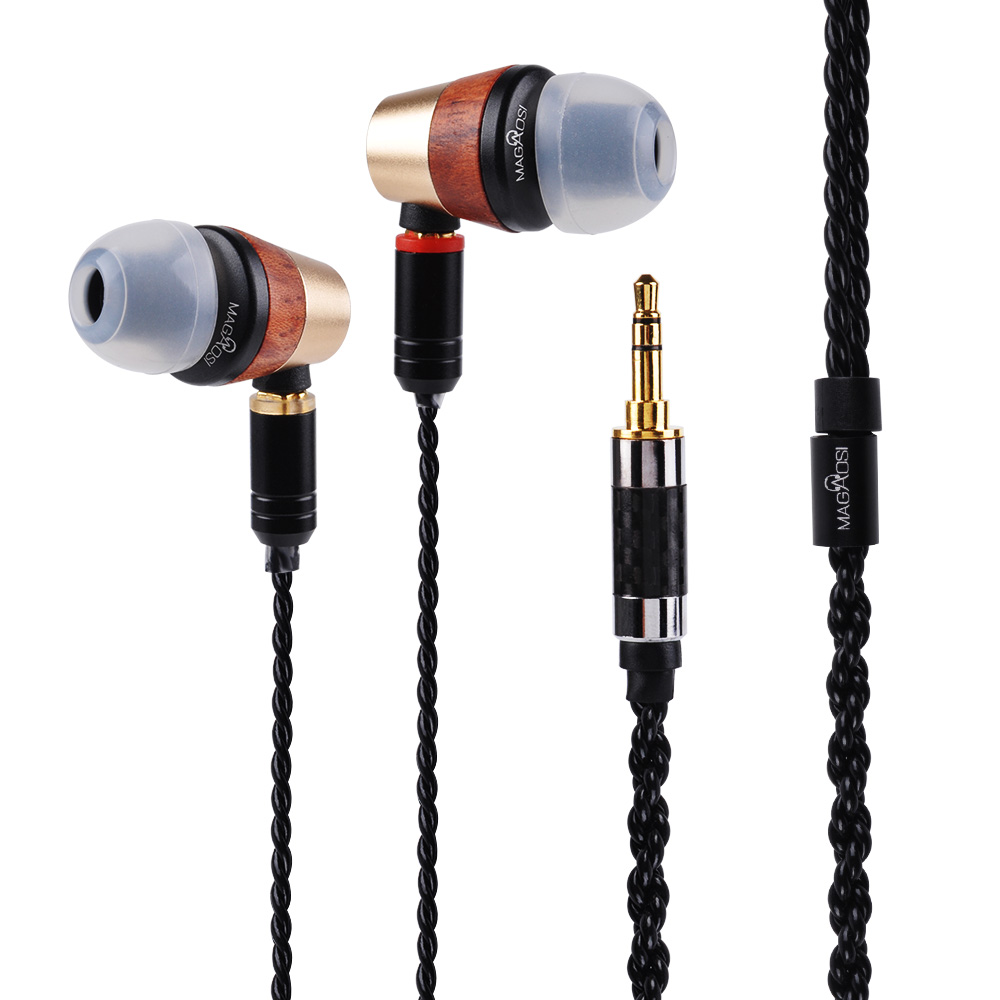 New Magaosi BK50 Wooden Pink MMCX 1DD+1BA Hybrid Balance Armature With Dynamic IEMS HI-FI In Ear Earphones Earbuds Clear Sound