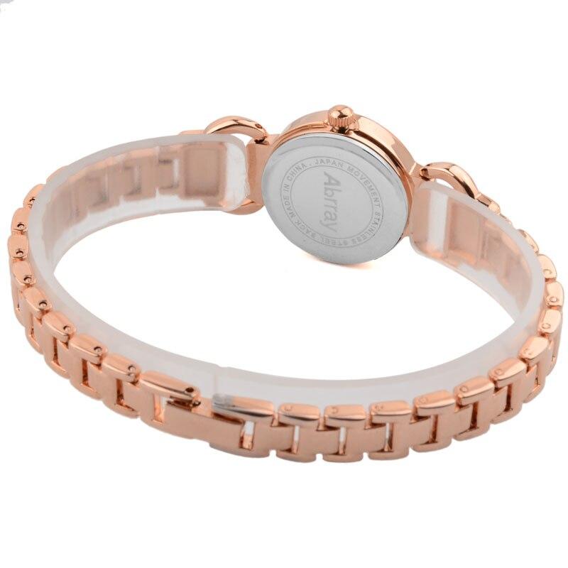 Abrray Ladies շքեղ rhinestones վարդագույն ոսկե - Կանացի ժամացույցներ - Լուսանկար 4