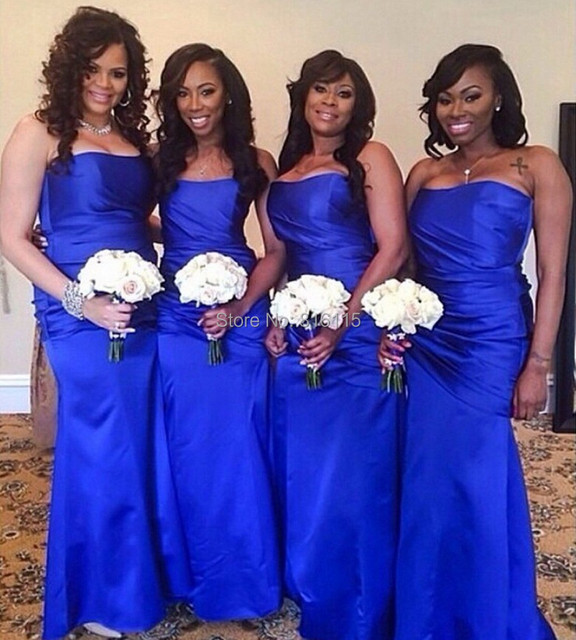 Royal Blue Bridesmaid Dress Wedding Event Satin Sweetheart Mermaid Maid Of Honor Brides Maid Dress Cyber Monday For Sale