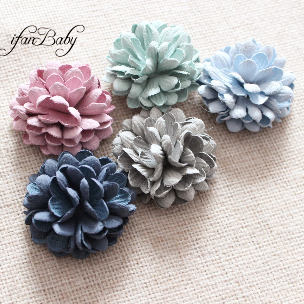 Fashion Synthetic Leather Flower, Hair Flower Accessories,for Hair, Brooch,hair Ring
