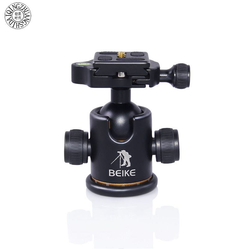 beike BK-03 Camera Tripod Ballhead with Quick Release Plate 1/4 Screw&Two levels for Tripod monopod DSLR Camera Max load to 8kg