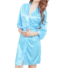 Front Sexy Lingerie Set Robe Pajamas Nightgown Sleepwear