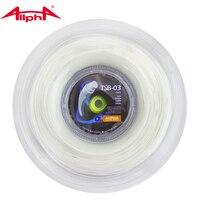 Alpha Hexagonal Tennis String Nylon String Soft Feeling Rotate White Traing Racquet String TSB 03 GEO