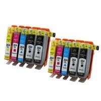 2 SATZ 364XL Kompatible Tintenpatrone für HP364 xl Photosmart 5520 5524 6510 6520 7510 B109 B110 B209 B210 C309 C310 C410 Drucker-in Tintenpatronen aus Computer und Büro bei