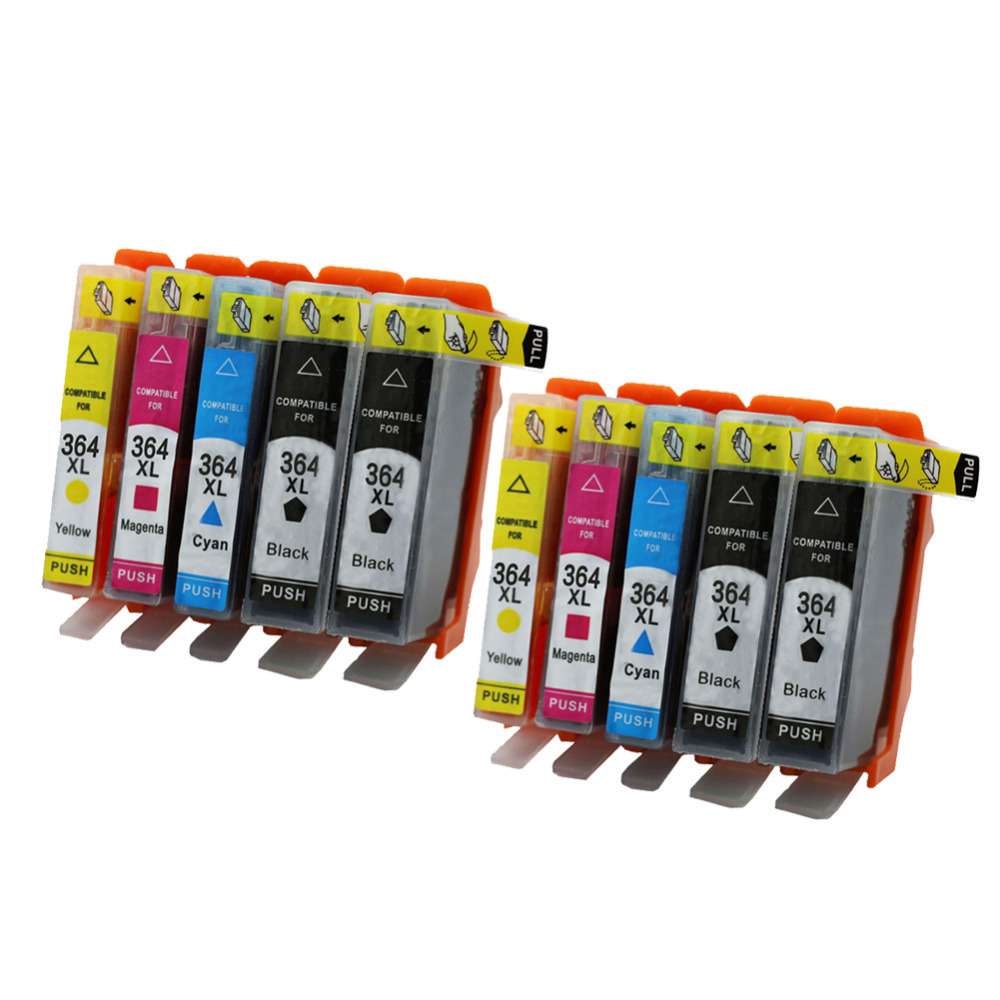 2SET 364XL Compatible Ink Cartridge For HP364 Xl Photosmart  5520 5524 6510 6520 7510 B109 B110 B209 B210 C309 C310 C410 Printer