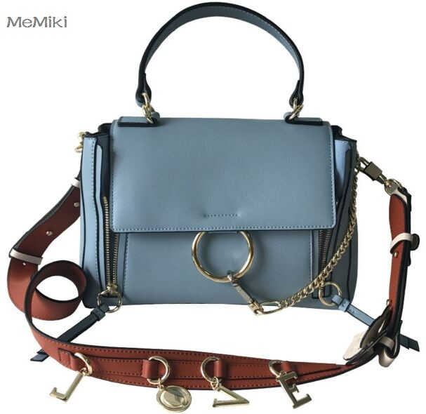 NEW Hot Vintage genuine leather women rings saddle bag fashion chains wide strap shoulder zip lock