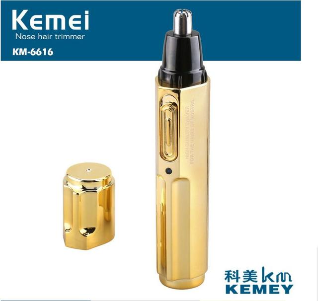 2017Kemei KM-6616 electric nose machine rechargeable electric nose hair trimmer nostril cleaning agent men preferred