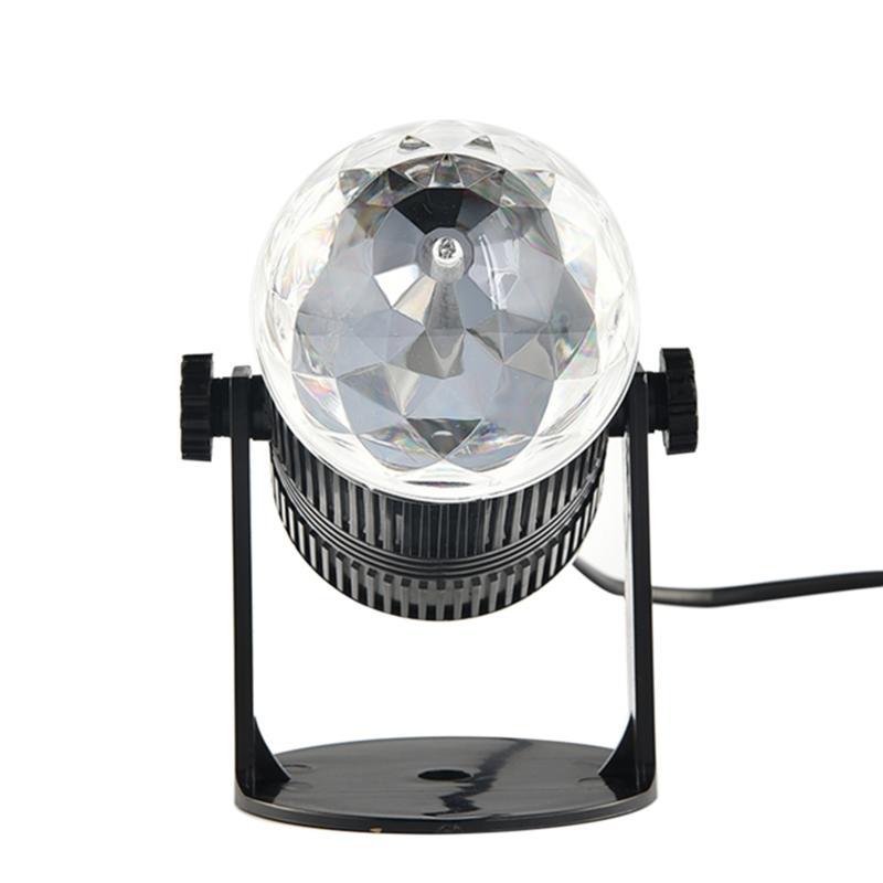 AC 220V Rotating Colorful LED RGB Light Lamp Bulb with US-plug 9w 150lm 3 led rgb light rotating stage lamp bulb white green