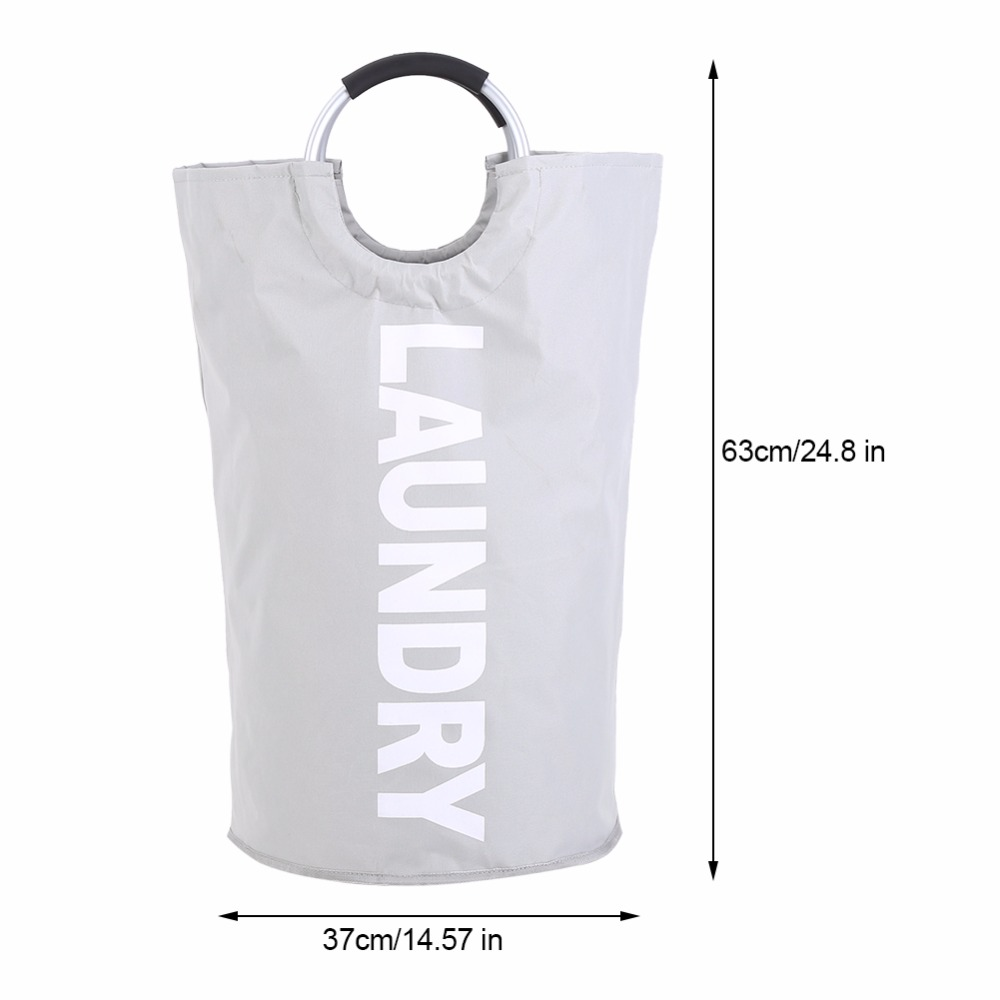 Collapsible-Laundry-Basket-Bag-With-Alloy-Handle-Hamper-Waterproof-Oxford-Toy-Cloth-Organizer-Large-Capacity-Laundry