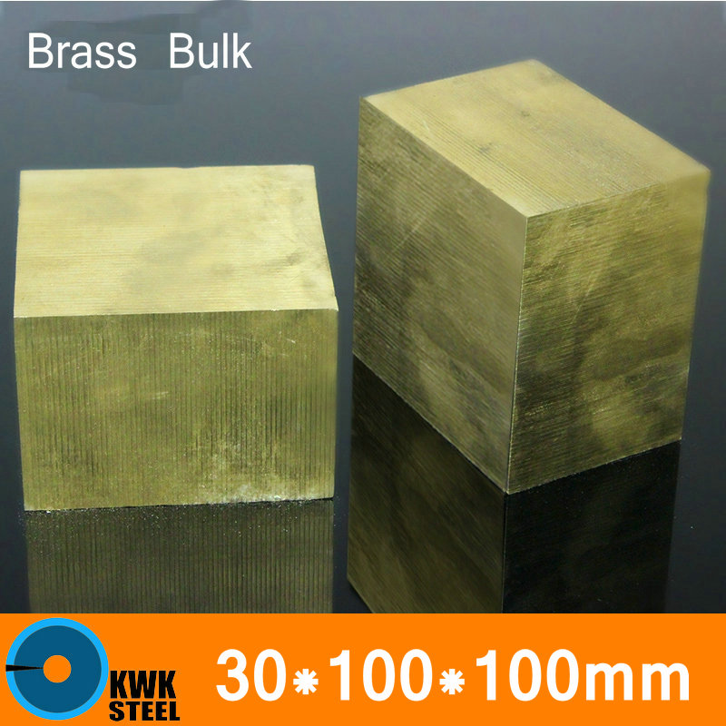 30 * 100 * 100mm Brass Sheet Plate Of CuZn40 2.036 CW509N C28000 C3712 H62 Mould Material Laser Cutting NC Free Shipping