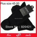 12 peças = 6 pares meias fashion grande elite calcetines meias de vestido dos homens de negócio meias plus size grande XXXL 48, 49, 50 meias homens