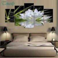 100% Full White Lotus Flower Water 5d Daimond Painting 5D Diy Diamond Painting Full Square/Round Rhinestones Painting Embroidery
