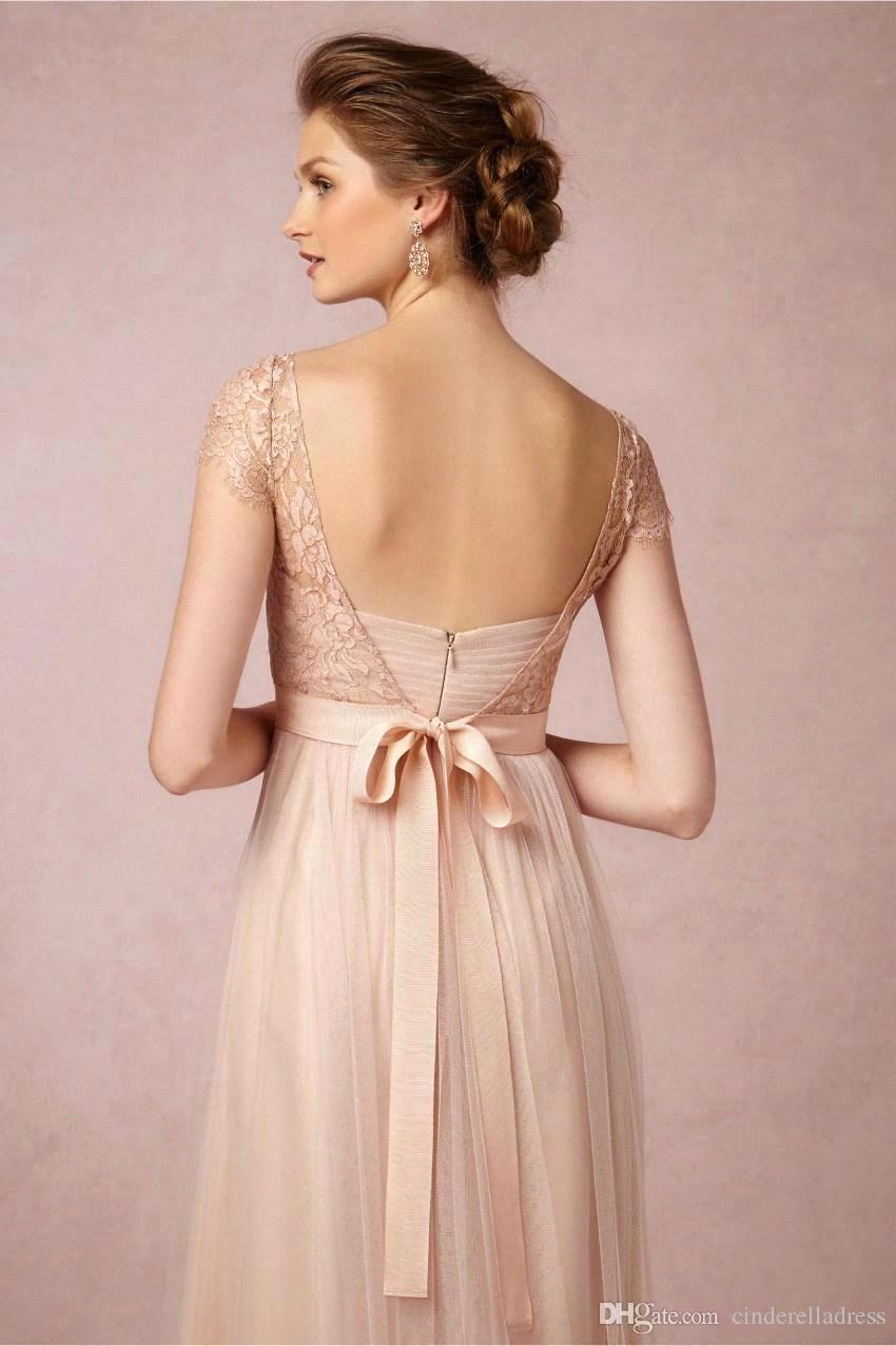 Elegant cap sleeve blush pink lace and tulle long bridesmaid elegant cap sleeve blush pink lace and tulle long bridesmaid dresses 2017 wedding party dress in bridesmaid dresses from weddings events on aliexpress ombrellifo Image collections