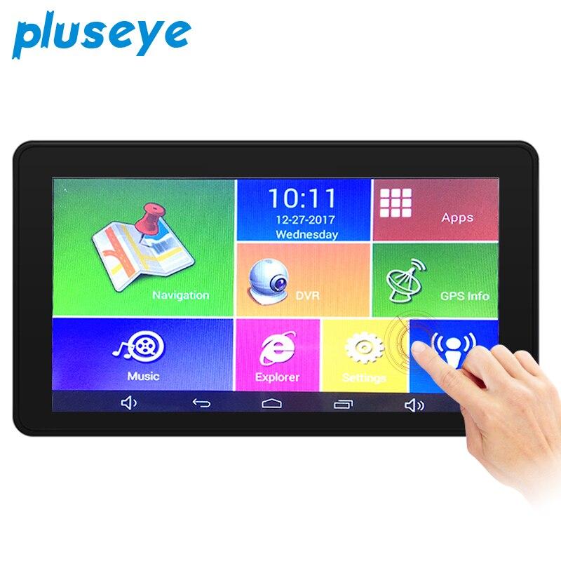 Pluseye 3 в 1 Видеорегистраторы для автомобилей Антирадары gps навигации Android Двойной объектив 7 дюймов видеорегистратор Бесплатная доставка