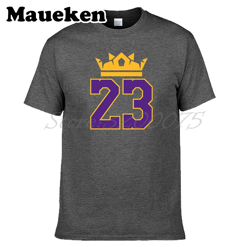 29fd338748f9 Men KING LeBron James 23 T shirt Clothes Los Angeles T Shirt Men's Tshirt  For LA Fans Gift 100% Cotton Tee W18070309-in T-Shirts from Men's Clothing  on ...
