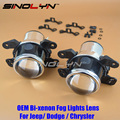 SINOLYN OEM HID Bi xenon Fog Lights Projector Lens Driving Lamps Retrofit For Dodge Journey /Jeep Wrangler /Fiat/Chrysler 300C