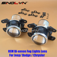 SINOLYN OEM HID Bi Xenon Fog Lights Projector Lens Driving Lamps Retrofit For Dodge Journey Jeep