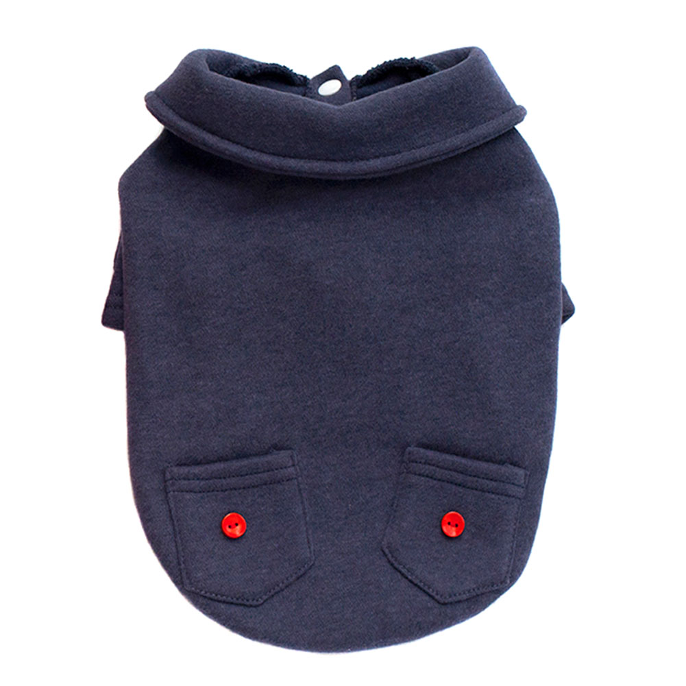 Dog Puppy Outfit Jacket Warm Coat Autumn Winter Pet Clothes Pocket Hoodies Dogs Clothing Pet Supplies Hot Sale