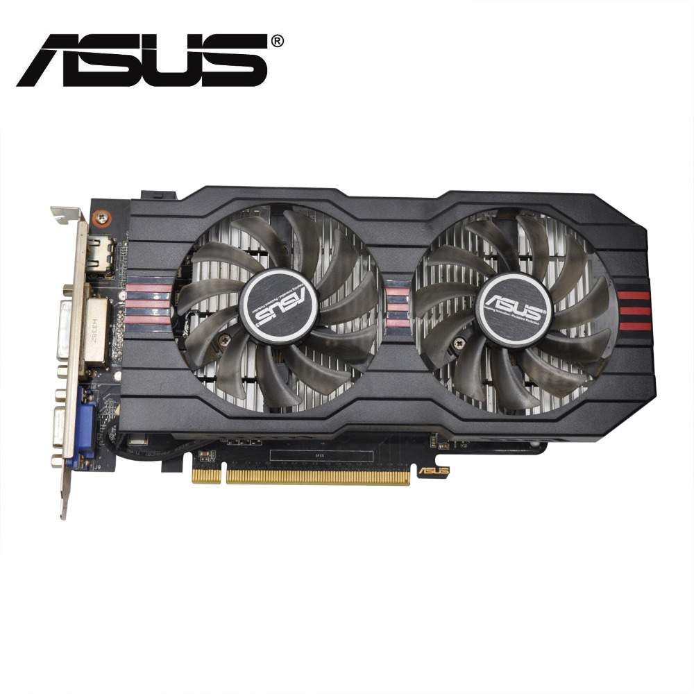 Verwendet, original ASUS GTX 650TI GPU grafikkarte 1 GB GDDR5 128BIT VGA Karte gaming Stärker als GT630, GT730