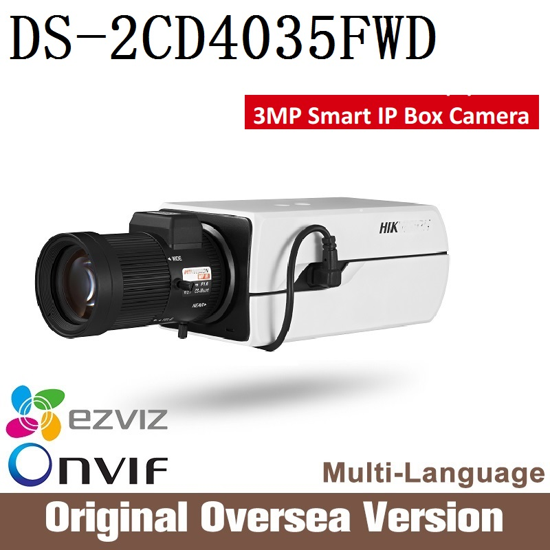 HIKVISION  ip camera 3mp DS-2CD4035FWD PoE  Smart IP Box Camera Full HD resolution ONVIF Smart IP Camera CCTV security