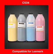 compatible for lexmark c534 refill color toner CMYK high quality color toner powder printer color powder free shipping DHL