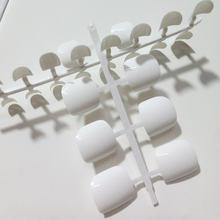 24 шт белые акриловые накладные ногти конфетного цвета для пальцев