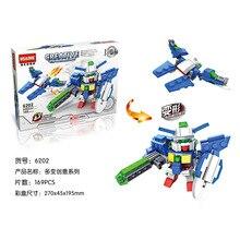 HSANHE 6202 Creative Series Mech Warrior Gundam Project Educational Diamond Bricks Minifigures Building Block Toys Gift