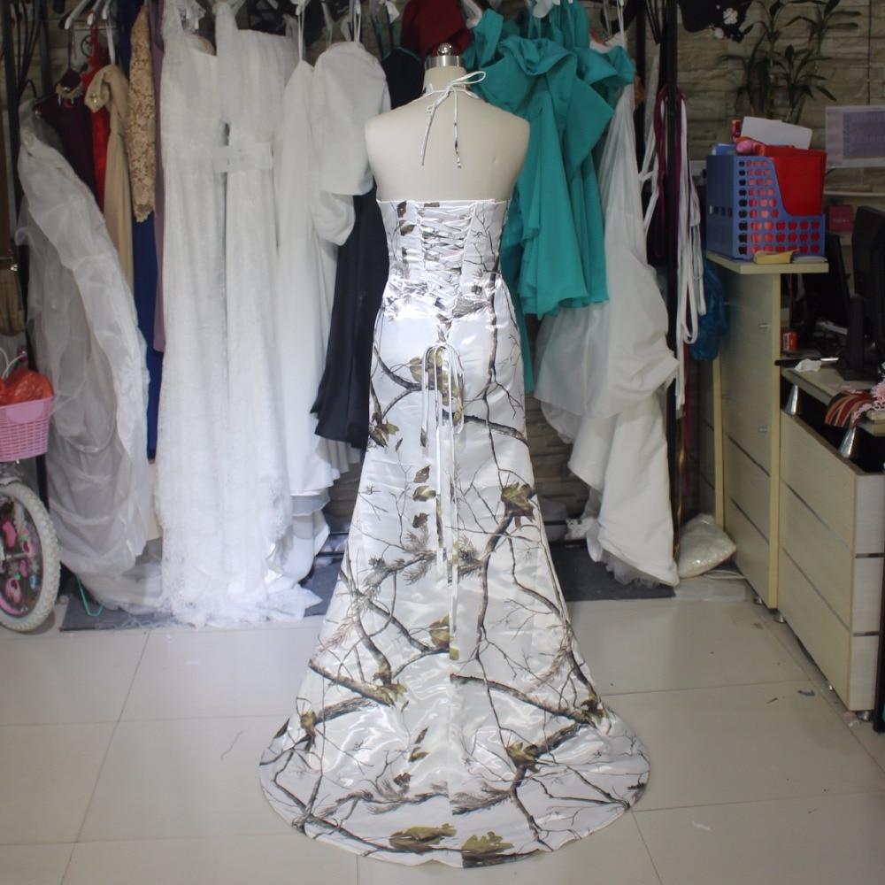 Realtree Camuflaje Camo Vestidos de Novia Blanco Largo Vestido De ...