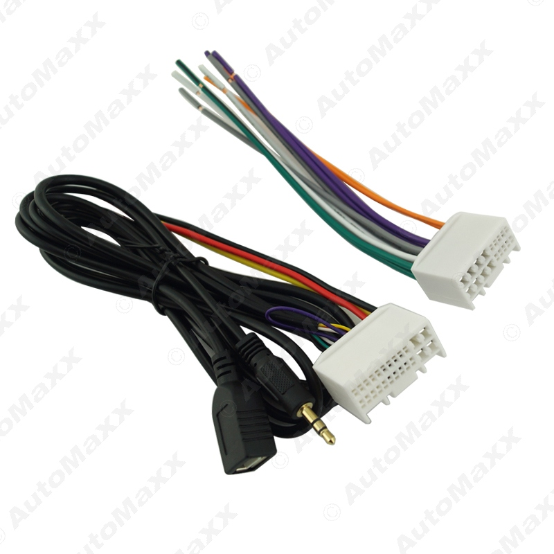 Car Audio CD Stereo Wiring Harness Adapter With USB AUX 3 5mm Plug For Hyundai IX35 car audio cd stereo wiring harness adapter with usb aux(3 5mm 2012 hyundai elantra wiring diagram at pacquiaovsvargaslive.co
