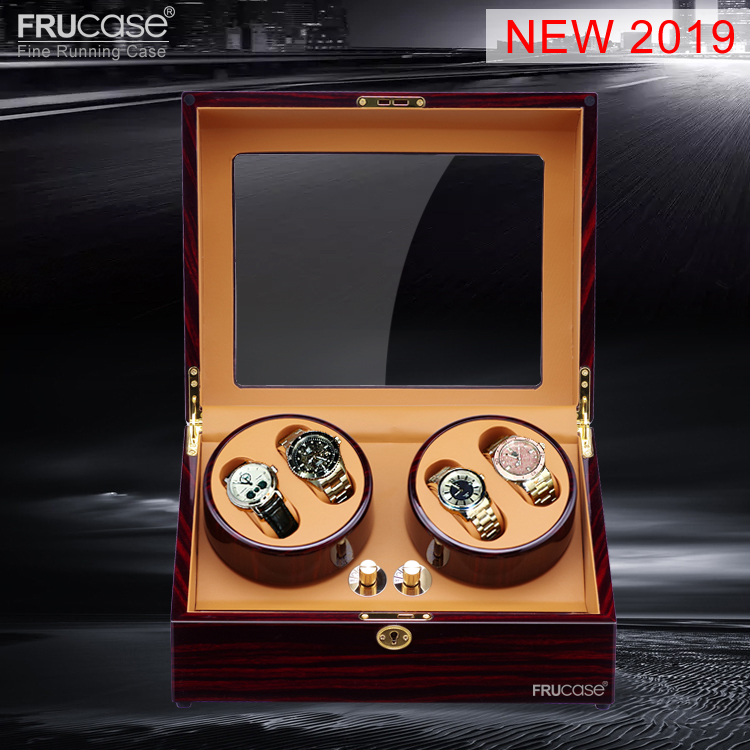Watch Winder for automatic watches New Version 4+6 Wooden Watch Accessories Box Watches Storage Luxury Automatic Watch Winder free shipcrocodile grain lacquered watch box deluxe watch storage case 10 slot with artistic grains for luxury watches winder