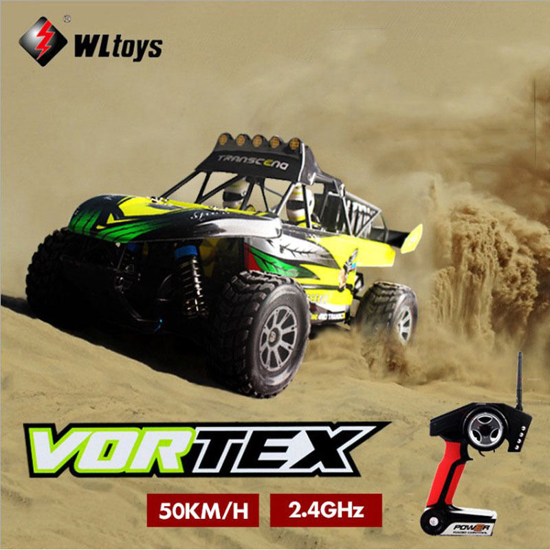 Free shipping 32cm WLtoys K929 1:18 2.4GHZ RC 50KM/H High-speed Desert 4WD off-road vehicles Professional stunt car Model