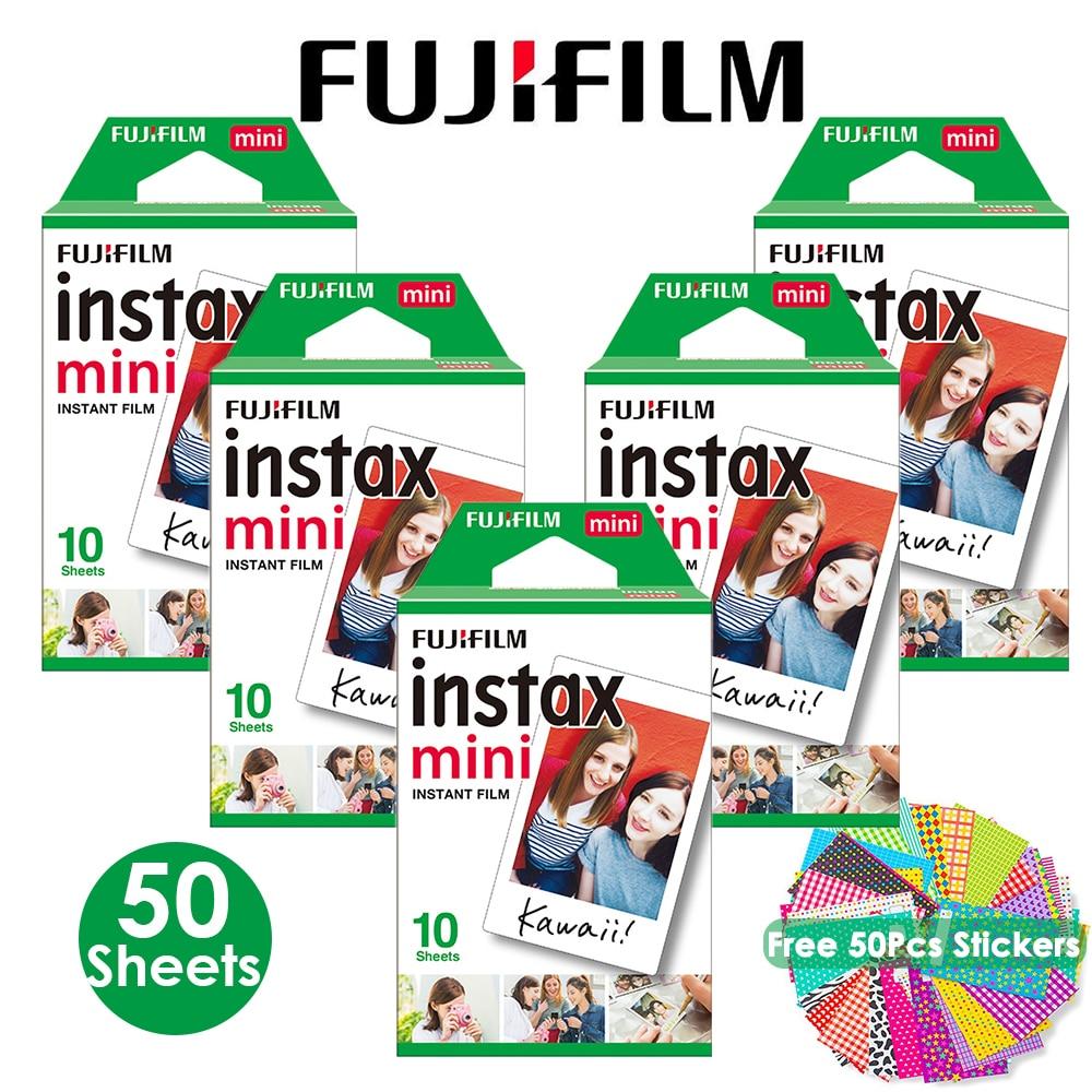 Fujifilm Instax Mini Pellicola Instax Mini 9 Film Bordo Bianco 50 Lenzuola per Fuji Instax Mini 8 Camera + Trasporto libero adesivi-in Pellicole da Elettronica di consumo su AliExpress - 11.11_Doppio 11Giorno dei single 1