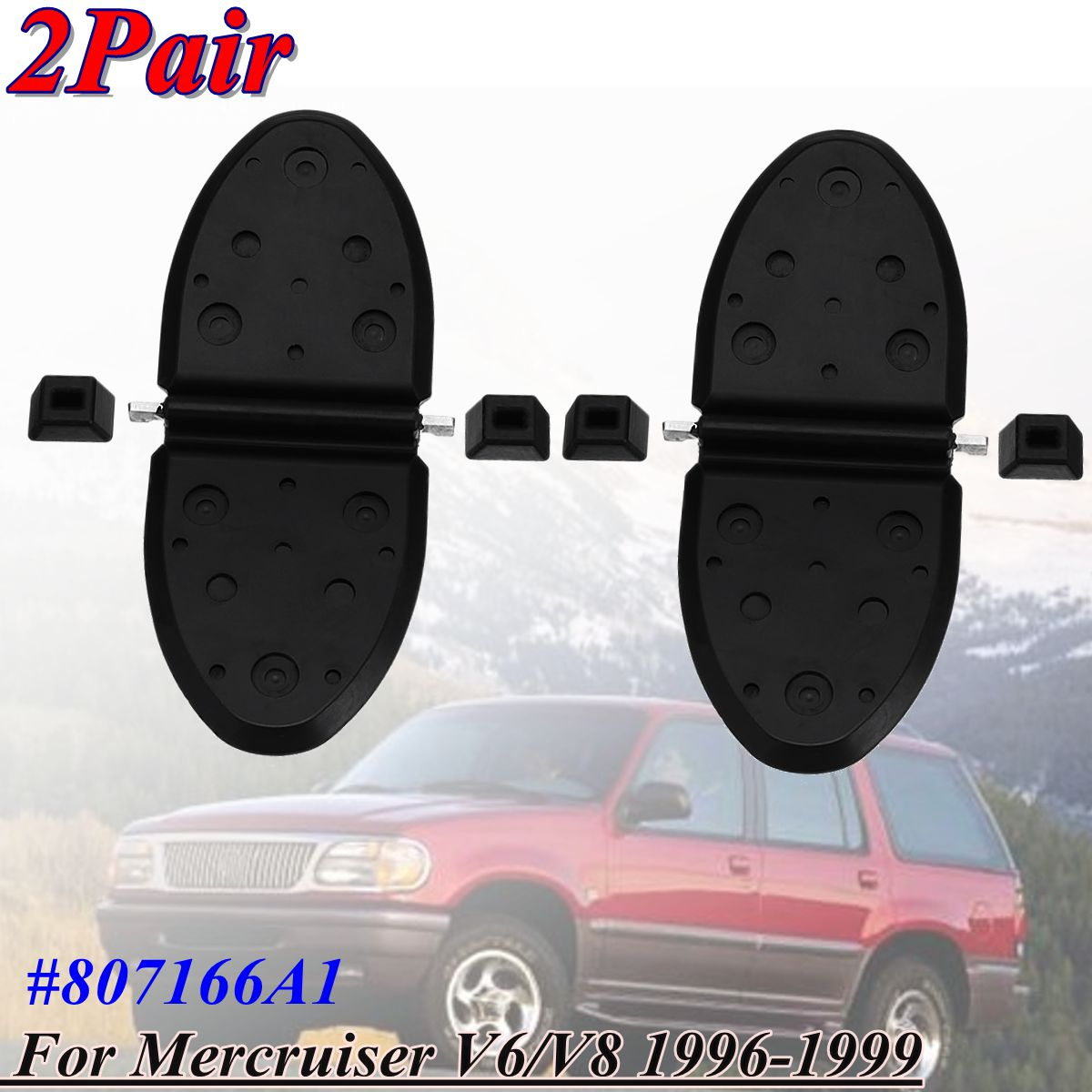 2pcs Sets New Exhaust Flappers Water Shutters Kit For Mercruiser V6 V8 1996 1999 807166a1