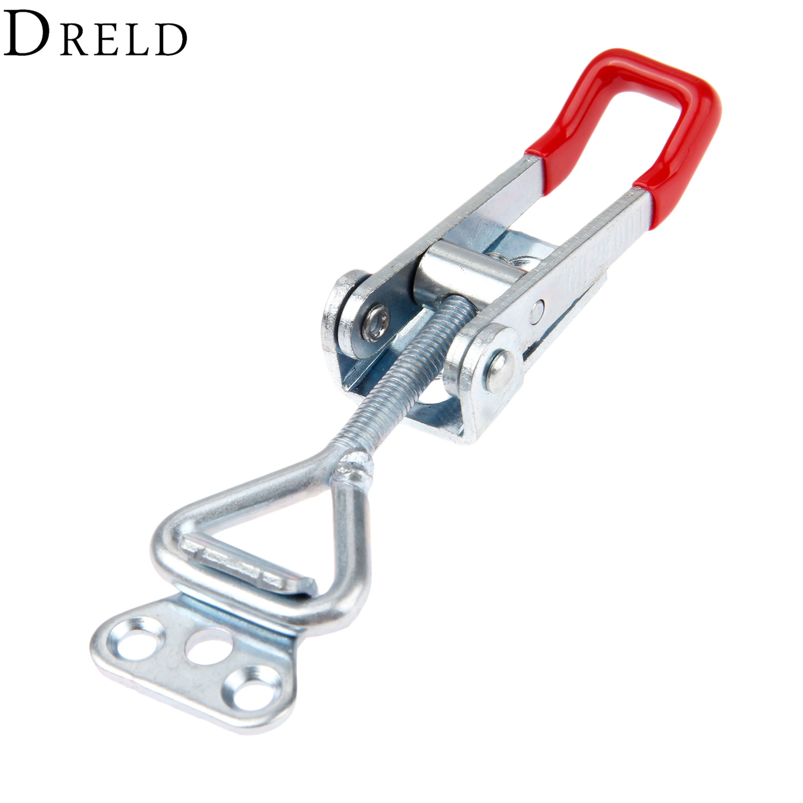 DRELD 1pc GH-4001 Parighasana Toggle Clamp Clip 100KG/220Lbs Holding Capacity Quick Metal Latch Hand Tool Fixture Clamp