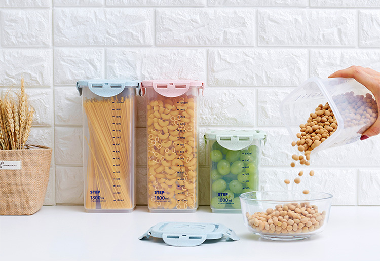 Half Flip Kitchen Container Set and Airtight Food Storage Box Storage for Preservation of Cereals 9