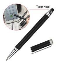 Capacitive 2in1 Metallic Ball Pen Touch Screen Stylus Metal Ballpoint Pen Office