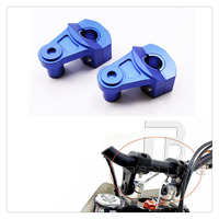 Universal Motorcycle 7 8 22mm Handlebar Handle Fat Bar Mount Clamp Risers Blue For Honda Models