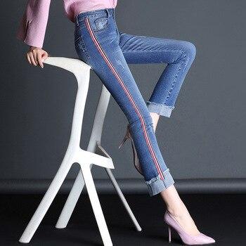 אמא בתוספת קטיפה נשים ג 'ינס עבה חם גבוהה מותניים מכנסיים קאובוי מכנסיים למתוח ג' ינס ג 'ינס מכנסיים חורף עיפרון 1DR001-014