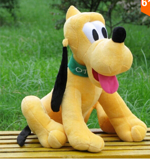 1pc 30cm Stuffed Dolls Sitting Plush Pluto Dog Plush Toys Mickey Mouse And  Minnie Mouse Doll  For Children Christmas Gifts