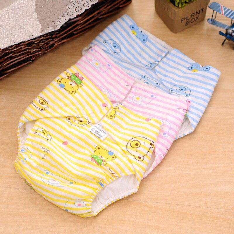 2 pcs / lot Reusable Popok Bayi Yang Baru Lahir Popok Kain Insert Bernapas Bayi Pelatihan Popok Sekali Pakai Lembut