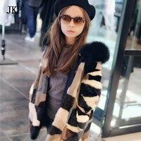 Дети реального норки пальто детские зимние теплые красочные норковая шуба ребенок норки Одежда теплая детская куртка