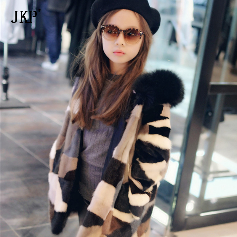 Kids Real Mink Fur Coat Baby Winter Warm Colourful Mink Fur Coat Child mink Fur Clothes Kids Warm Jacket hm039 real genuine mink hat winter russian men s warm caps whole piece mink fur hats