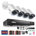 ANNKE 8CH 1080P HD-TVI Security Camera System  Pre-installed (4) 2.0MP 1920TVL Surveillance Cameras, IP66 Weaterproof
