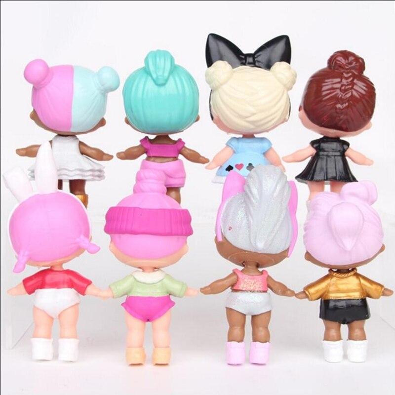 8 unids / lote LoL Desembalaje Muñecas de alta calidad Lol Dolls - Muñecas y accesorios - foto 2
