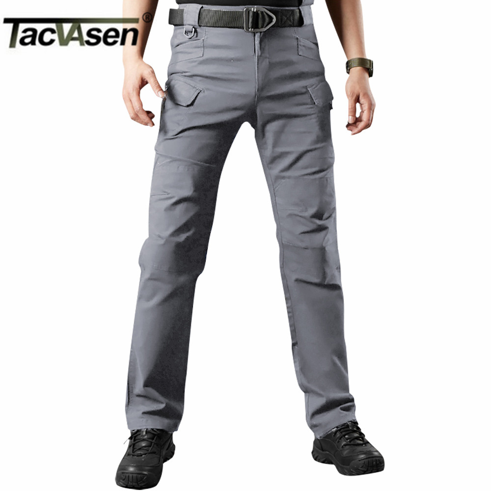 TACVASEN New Men Tactical Pants Mens Cargo Pants Multi Pockets Silm Casual Pant Army Military Combat Trousers TD-JLTX-001