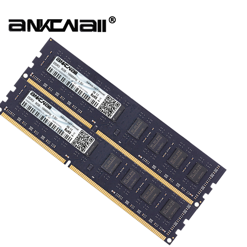ANKOWALL Ram DDR3 8GB 4GB 16G  1866MHz  1600Mhz 1333  Desktop Memory with heat Sink  240pin  New dimm stand by   AMD/intel  G41 4