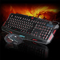 Venta caliente Mecall LED Gaming 2.4G Multimedia del teclado Y 5500 DPI Ratón para Ordenador Gamer wholesale Dec28